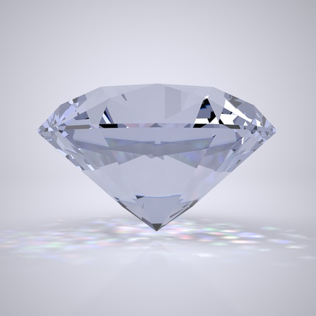 The Three-dimensional Brightly Lit Diamond Stock Photo - 17472170