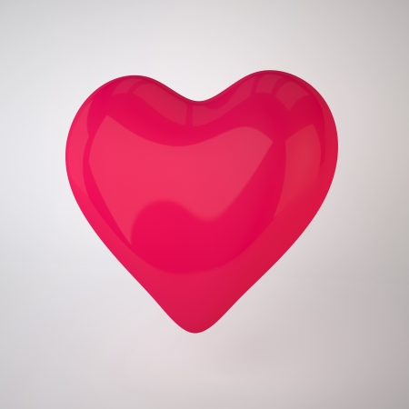 The Three-dimensional Red Heart - I Love You symbol  Stock Photo - 17472169