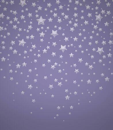Die dreidimensionale Sterne auf blauem Hintergrund