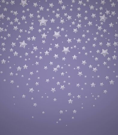 The Three-dimensional Stars on a Blue background