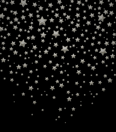 The Three-dimensional Stars on a Black background