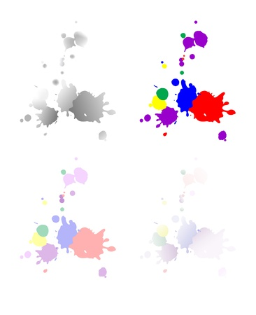 The illustration of the Spilled Paint Stains