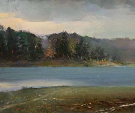 Das �lgem�lde des Tranquil Landscape