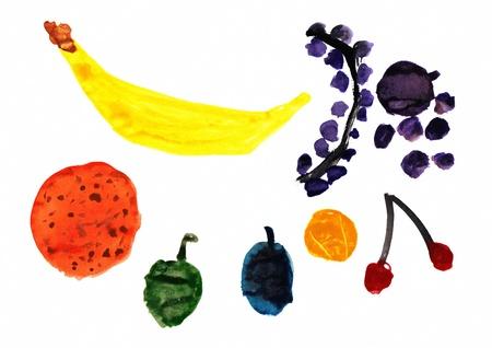 Children s Darstellung eines Obst Lizenzfreie Bilder