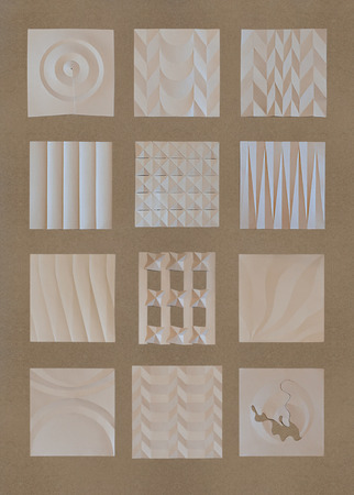 Design Elements Set with Amazing Texture and Details. Were Used by the Artist: Paper Plasticity, Paper Bend, etc.