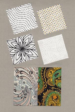 Ornamental Stoffe mit erstaunlichen und Textur-Details