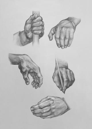 Show of Hands Es ist eine Bleistiftzeichnung Lizenzfreie Bilder