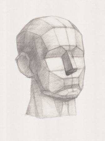 Gips Head. Es ist eine Bleistiftzeichnung Lizenzfreie Bilder