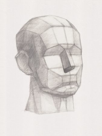 Plaster Head. It is a Pencil Drawing