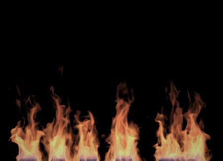 Fire flames on Black Background (Rendering in the Three-dimensional Design Program)