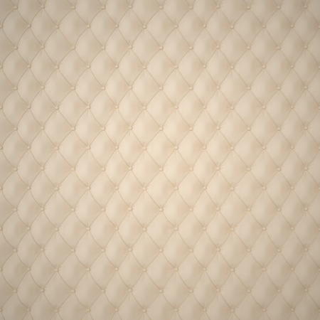 classics: Beige Capitone Upholstery Pattern Background with Buttons for Decoration. Classics and Rococo. Rendering in 3D Program.