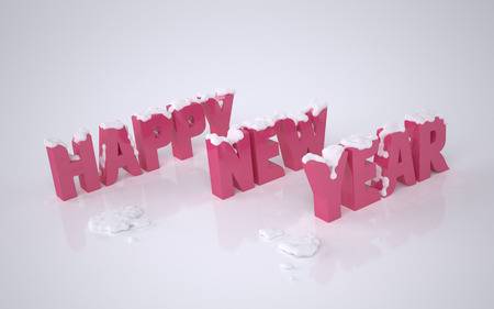 Happy New Year. New Year Card. The illustration of the Happy New Year Concept. Rendering image Stock Photo