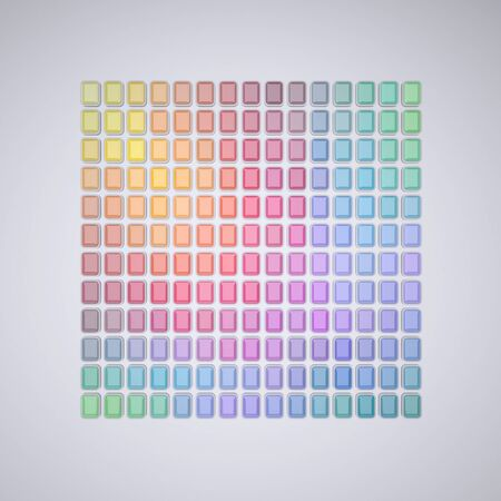 Abstract Color Palette. Abstract Patterns of Color Spectrum. Color Swatches. Rendering in 3D Program Stock Photo