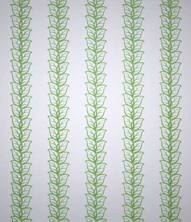 classics: Background with Ornamental Leaves. The Three-dimensional Ornamental Leaves on a White background. Wallpaper Pattern for Decoration. Classics. Digitally Generated Image. Rendering in 3D Program Stock Photo