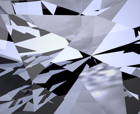 mirror: Abstract Pattern Background. Mosaic, Crystal, Diamond Structure. Broken Glass, Shattered Glass, Broken Mirror, Shattered Mirror. Digitally Generated Image. Geometric Shapes in Chaotic Motion Stock Photo