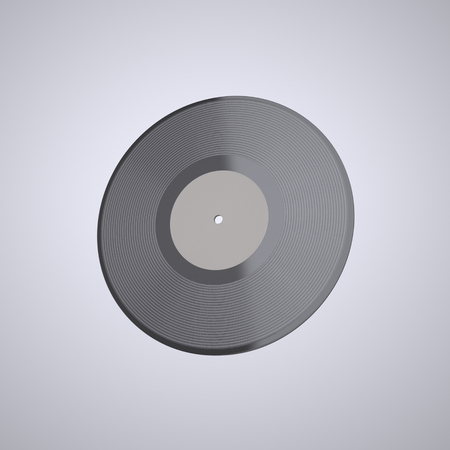 Vinyl record - LP. The illustration of the LP Vinyl record with Empty Label on a White background. This Image for Poster or Presentation of Your Event or Party in Rock, Rock-n-roll, Pop, Jazz, Dance, Techno, Hip Hop, DJ, Classical Style. Digitally Generat