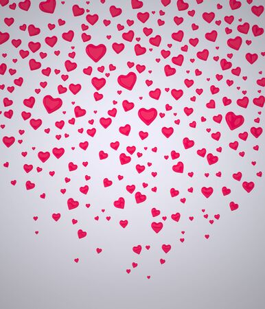 Background of Hearts. Red Hearts. Valentines Day Hearts. I Love You symbol. Confetti of Hearts. Rendering in 3D Program