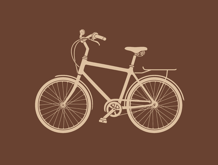 Bicycle Silhouette. The vector illustration of the Bicycle Silhouette. Graphic Design Element. It is Not Single Compound Path. Silhouette is Made of Elements.