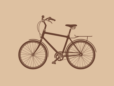 Bicycle Silhouette. The vector illustration of the Bicycle Silhouette. Graphic Design Element. It is Not Single Compound Path. Silhouette is Made of Elements. Illustration