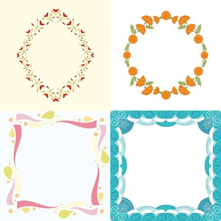 for text: Collection of decorative ornaments frames for text or foto