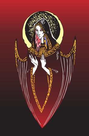 angel of a blind arrow RED Illustration