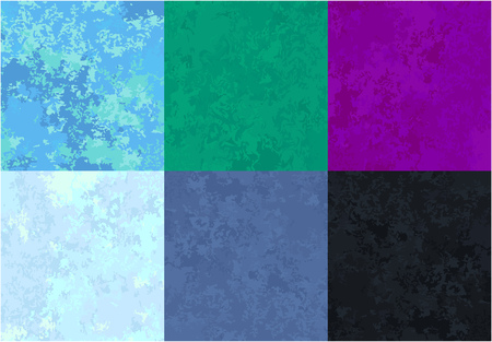 set of marble textures of various colors, cold shades