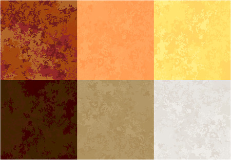 set of paper textures of various colors, warm solar