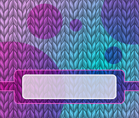 purple knitted background. There is a place for an inscription. seamless texture  イラスト・ベクター素材