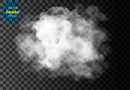 cloudiness: Fog or smoke isolated transparent special effect. White cloudiness, mist or smog background.