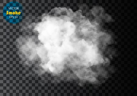 special effect: Fog or smoke, lighting flare isolated transparent special effect. Illustration