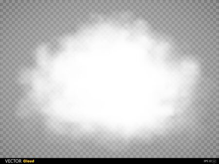 special effect: Fog or smoke isolated transparent special effect. White vector cloudiness, mist or smog background. Vector illustration Illustration