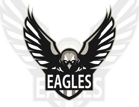 Eagle logo mascot for a team. Sport logo. Vector illustration. Stock Illustratie