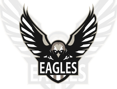 Eagle logo mascot for a team. Sport logo. Vector illustration. Vectores