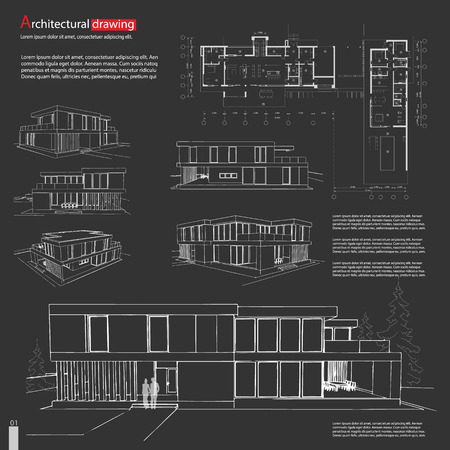 Blueprint drawing of 3d building architectural template royalty blueprint drawing of 3d building architectural template stock vector 74046505 malvernweather Images