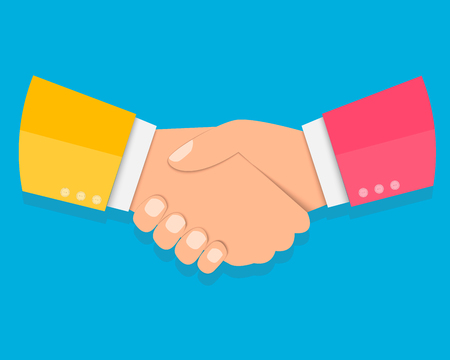 Shake hands, agreement, partnership concepts. Modern flat design graphic elements. Vector illustration EPS10