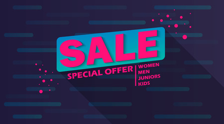 discount banner: Super Sale and special offer. 50% off. Vector illustration.Theme color.