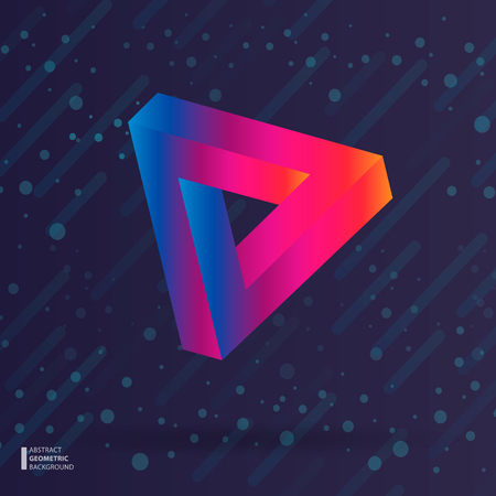 Abstraction of modern style with a composition of various geometric shapes in color. Vector illustration.