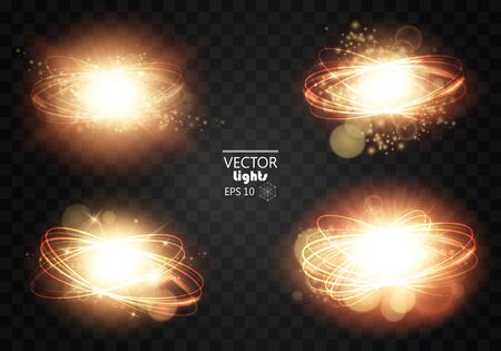 night club interior: Scene illumination collection, transparent effects. Lighting with spotlights. Vector