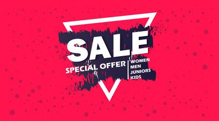 Super sale and special offer. Illustration