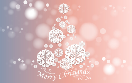 christmas tree illustration: Christmas and New Years background with Christmas Tree made of cut out paper stars. Vector EPS10 Illustration