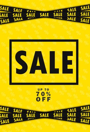 hangers: Super Sale and special offer. 70% off. Vector illustration. Coloured banner