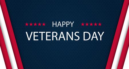 退伍军人节。向所有为国效力的人致敬。退伍军人节的背景。矢量插图。11月11日