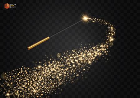 Varita mágica con brillo mágico.