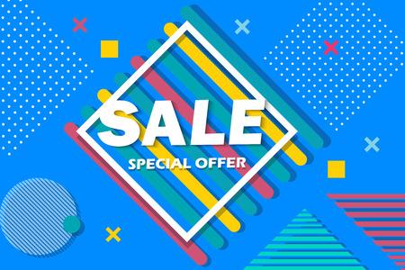 Super Sale and special offer. 50% off. Vector illustration. Coloured banner 免版税图像 - 94113401