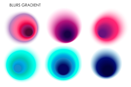 Set of color abstract color gradients. Colorful abstract gradient. Vector illustration for design, advertisement, cover, poster, print and presentation.