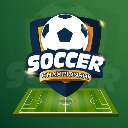 Soccer sports Logo.  Vector illustration of EPS10 Vettoriali