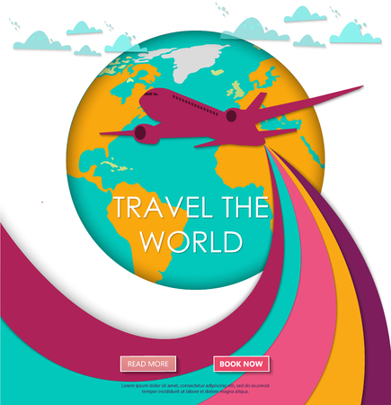 Travel to World template design.