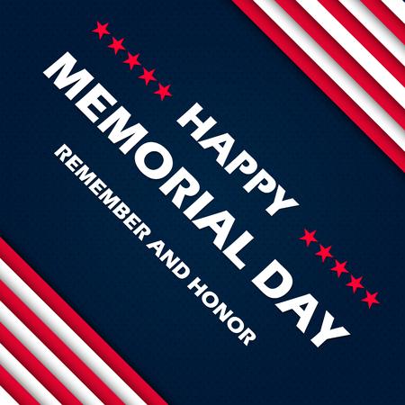 Happy memorial day typography Illustration.
