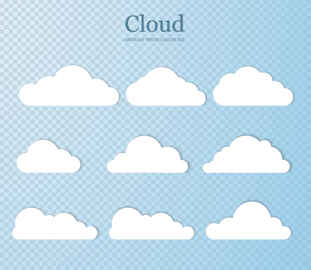 Set vector illustration of clouds collection. Vector abstract design. EPS10
