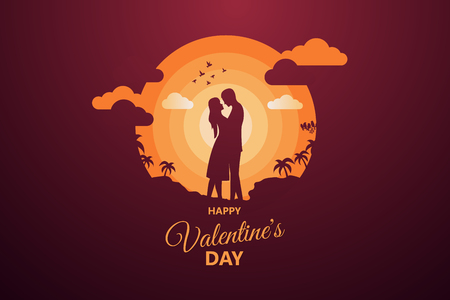 Happy Valentine's day abstract background. Set background for covers, invitations, posters, banners, flyers, placards. Happy Valentine's day composition in paper cut style. Vector illustration. Фото со стока - 126965067
